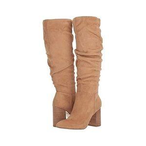 NWT Carlos by Carlos Santana suede tan high boots